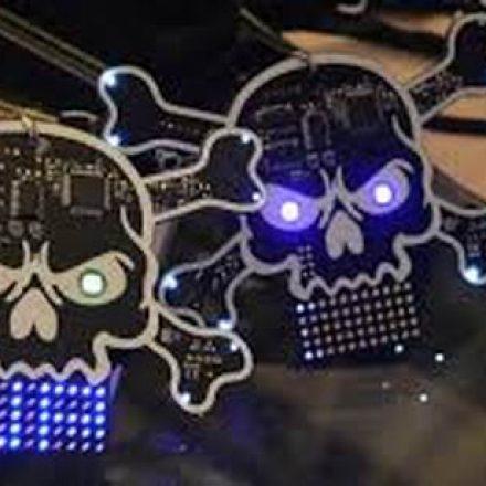 Hi-tech badges designed for hackers