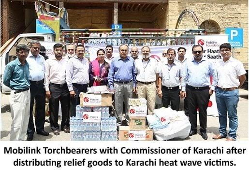 "Mobilink Helps Karachi Battle the Heat ""Karachiites and neighboring"""
