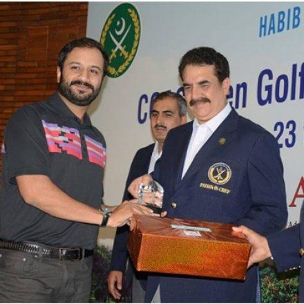 Mr. Imran Janjua GM Corporate Communications at PTCL received trophy