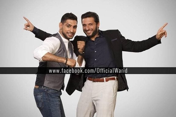 Boxer Amir King Khan and Shahid Afridi to appear together