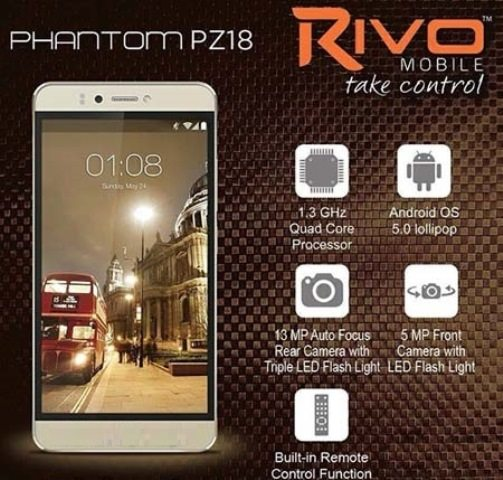 Rivo introduces the Phantom PZ18 a powerful smartphone