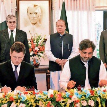 RUSSIA AND PAKISTAN SIGN KARACHI-LAHORE PIPELINE DEAL