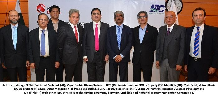 NTC Signs Agreement with Mobilink for Provision of GSM/3G/ICT Services