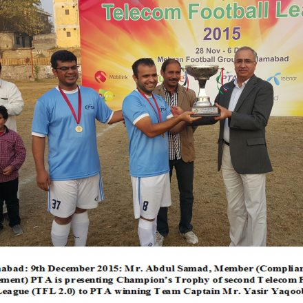 PTA WINS THE TELECOM FOOTBALL LEAGUE 2.0