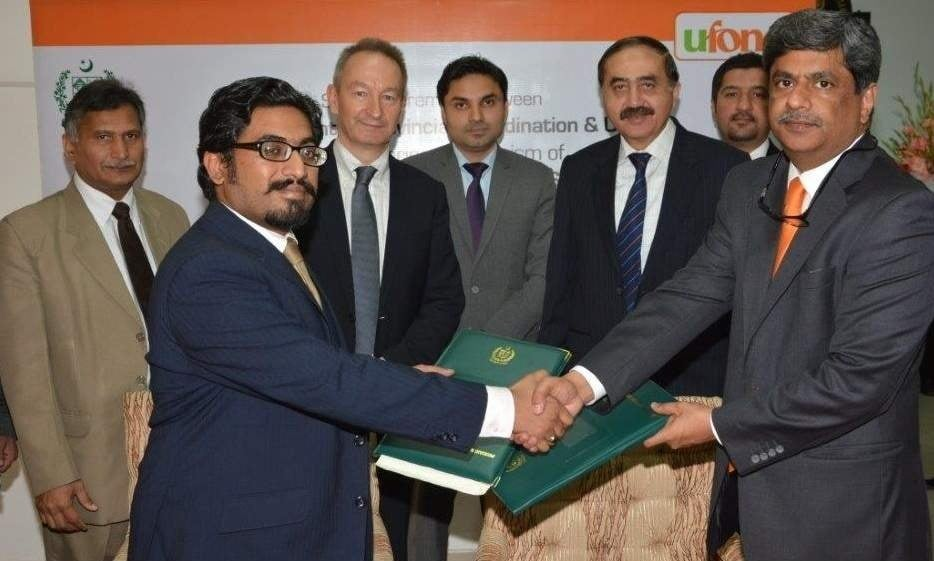 Ufone signed MoU with Ministry of Inter Provincial Coordination