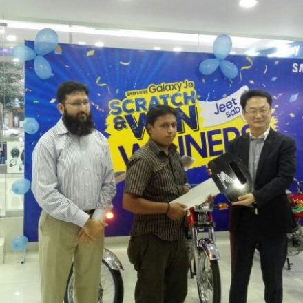 Samsung gives big prizes, cars,TVs to winners of Galaxy J-'Scratch & Win' offer.