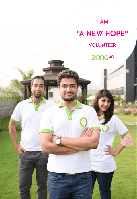 A NEW HOPE – Zong Launches Nationwide Employee Volunteers' Program