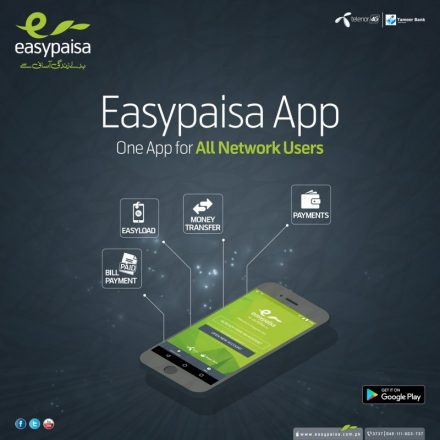 Easypaisa App now allows everyone to register for Easypaisa Account
