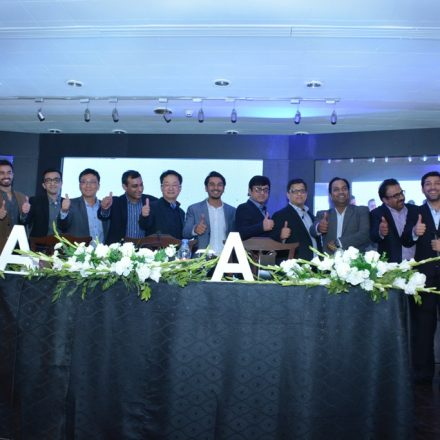 Official unveil of Samsung's A series 2017 in Lahore