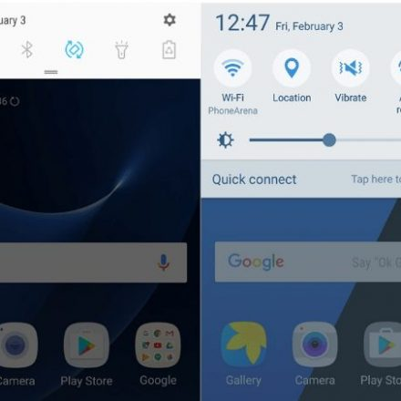 How to take brightness slider at the top of S7/edge status shade on Nougat