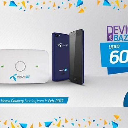 Mega discounts on devices with Telenor Big Bazaar