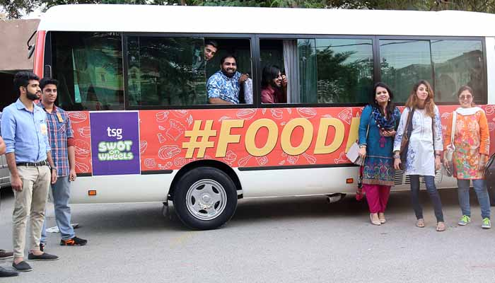Foodpanda is Pakistan's online food ordering company, which celebrated desi food upon a live filled Food run with TGS's SWOT-on-wheels.