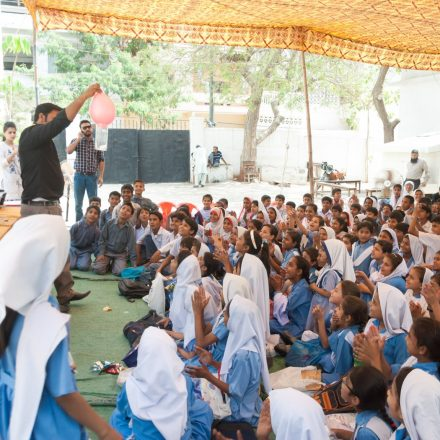 Fun Science Show mesmerized students at TDF adopted government school