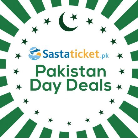 Zealous Discounts Announces by Sastaticket.pk on Pakistan's Day