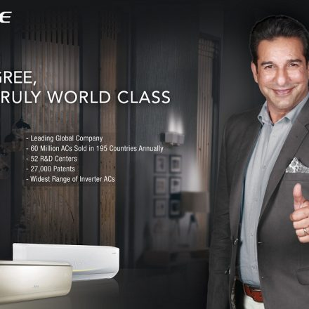 Gree's Summer Campaign with Waseem Akram as Brand Ambassador