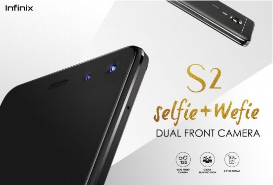 Infinix S2 with Dual Front Cameras - World's 1st Wefie Smartphone