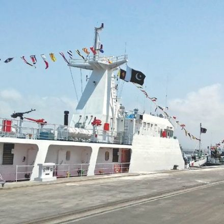 Third Maritime patrol ship inducted for security of CPEC route