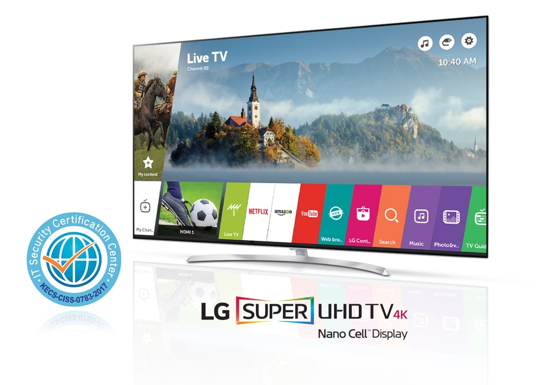 LG's webOS 3.5 smart TV platform was recognized with a Common Criteria (CC) certification for its enhanced Application Security Solution Version 1.0