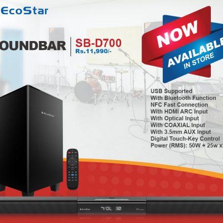 Pristine sound quality with EcoStar's Sound Bar Systems