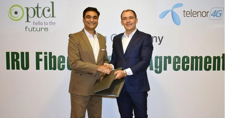 PTCL signs Fiber Leasing Agreement with Telenor Pakistan for 2nd Consecutive Year