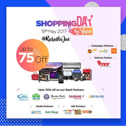 Yayvo presents Pakistan's First ever Online Shopping Day on 19th May
