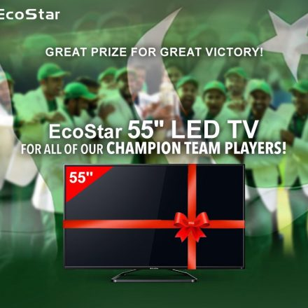 """EcoStar gifts a 55"""" LED TV to all winning Players of Cricket Team"""