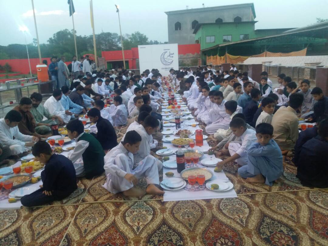 The orphans and old citizens were delighted to receive the EID gifts and sumptuous food for iftar and dinner. This activity gave the confidence
