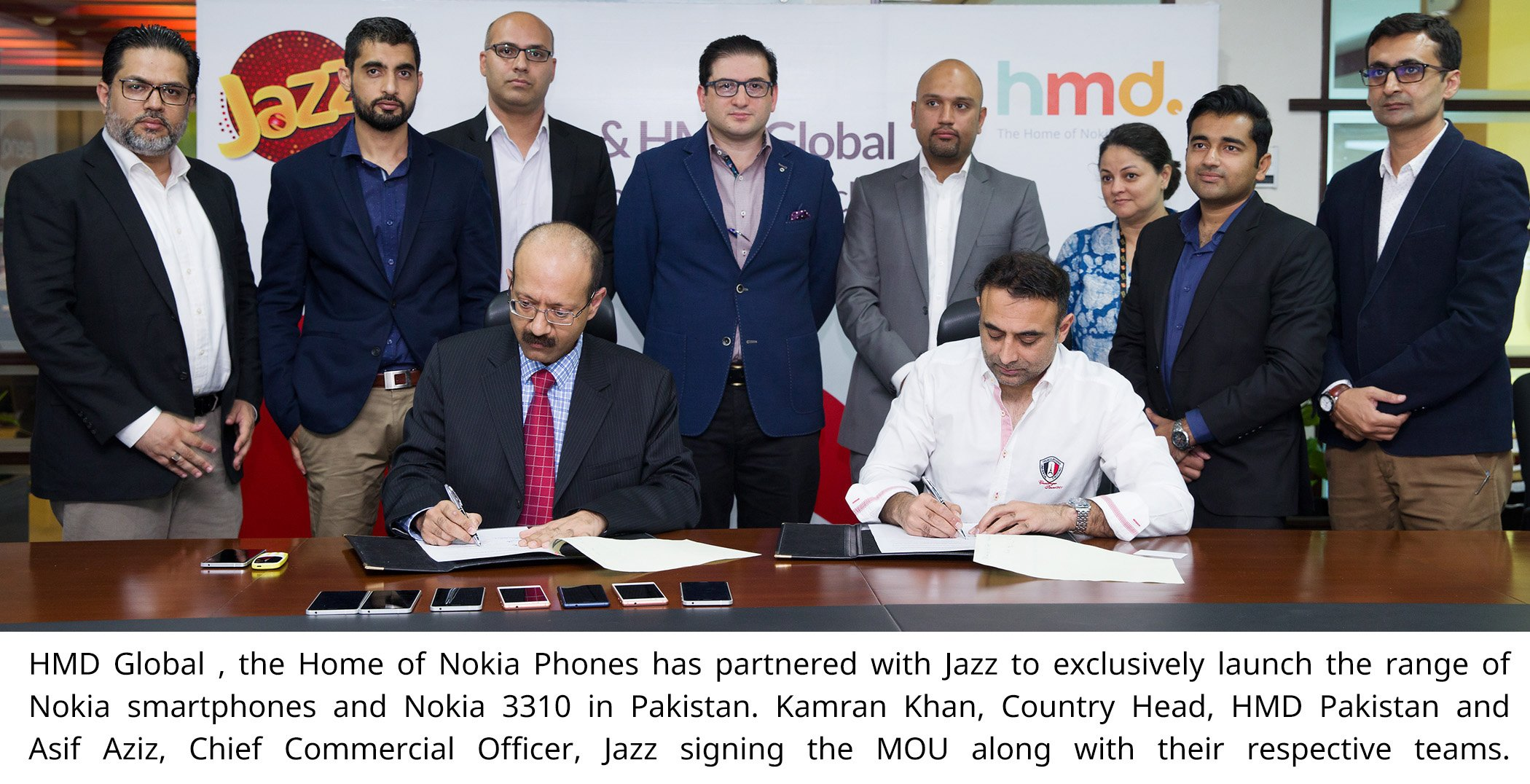 HMD Global, the home of Nokia phones, has partnered with Jazz to exclusively launch the range of Nokia smartphones and Nokia 3310 in Pakistan.