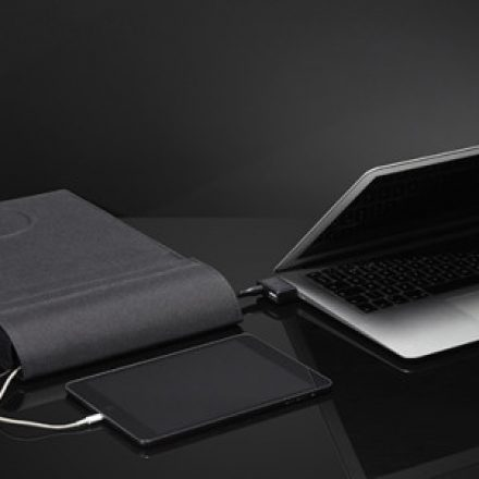 This Laptop sleeve can charge both your laptop and your phone
