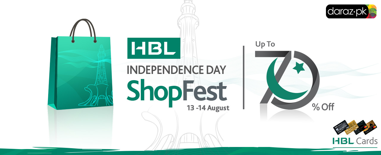 HBL and Daraz invite you to celebrate 70 years of Independence