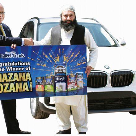 Haleeb announces BMW X1 Grand prize winner of Khazana Rozana