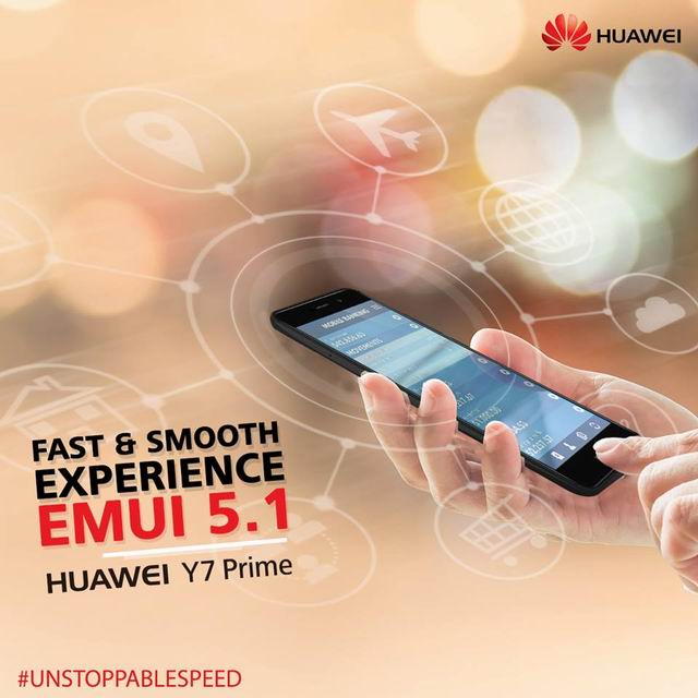 EMUI 5.1 enriches the true potential of HUAWEI Y7 Prime
