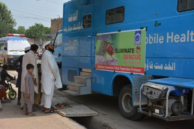 Samsung's Health Van Shifted towards KPK to encounter Dengue Fever