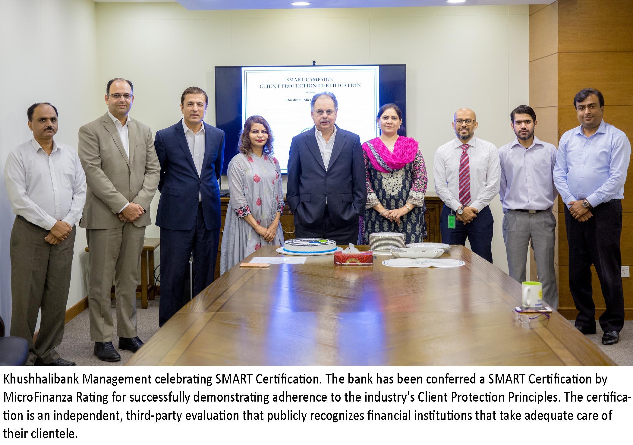 Khushhali Microfinance Bank Achieves SMART Certification