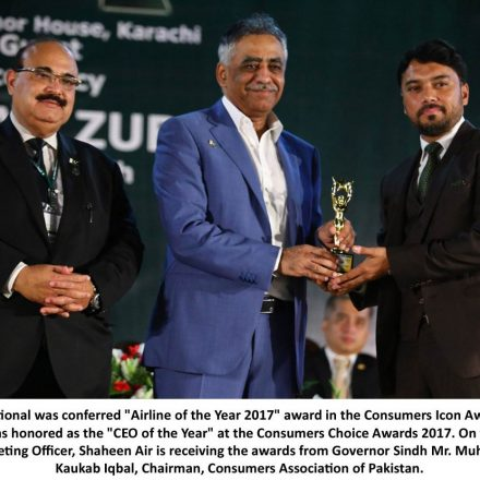 Shaheen Air Clinches Top Accolades at Consumers Choice Awards 2017