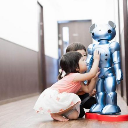 Japan introduced Care bear robots to relieve staff shortages in child care centers