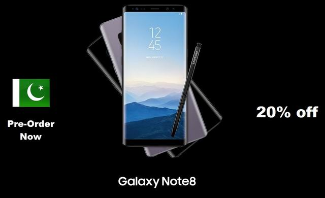 Samsung Galaxy Note 8 is available for Pre-Order in Pakistan