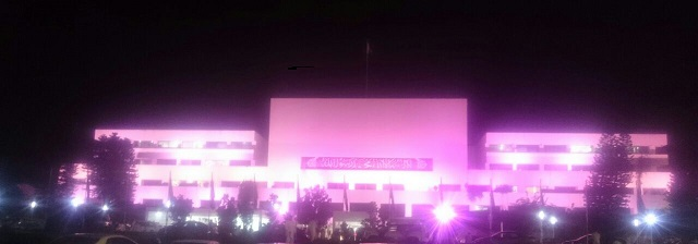 Parliament House turned Pink In support of Pink Ribbon