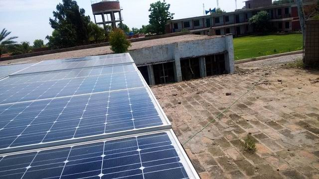 The Solar energy system introduced in Punjab schools to avoid load shading