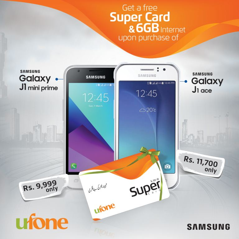 Ufone and Samsung have partnered to launch an exciting handset bundle offer for Samsung mid-range Smartphones for consumers.
