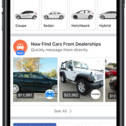 Facebook to launch Marketplace for cars with dealers and Blue Book pricing