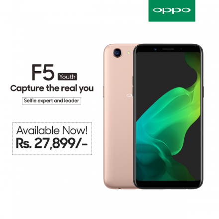 OPPO launches 'F5 Youth' for the Young Generation that demands Intelligent and Real Selfies
