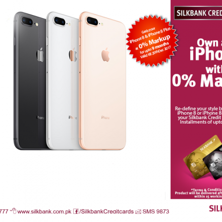 Now you can get iPhone 8 Plus and iPhone 8 on installments in Pakistan