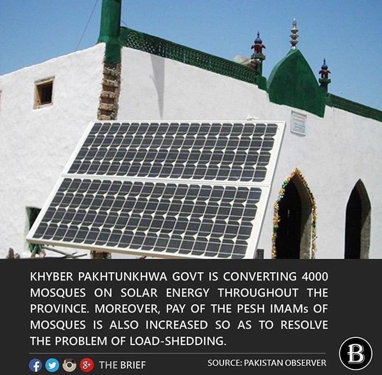 Mosques in KPK Will Soon Work on Solar Power
