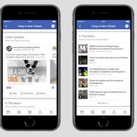 """Facebook is testing a new local news and events section called """"Today In"""""""