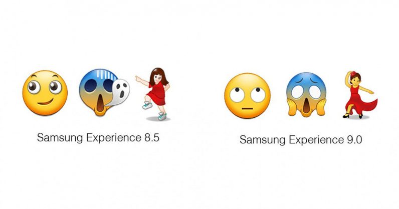 Finally Samsung redesigned emoji are actually recognizable including rolling eyes