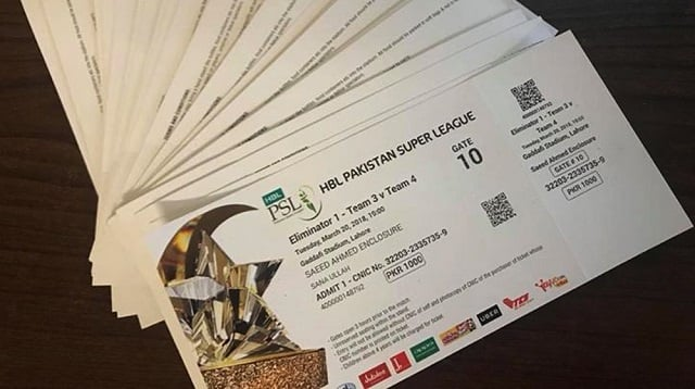 All tickets for PSL final has been sold out within hours