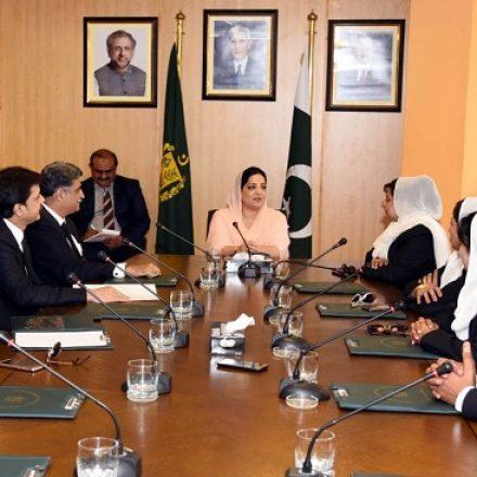 Lawyers delegation calls on Anusha Rehman