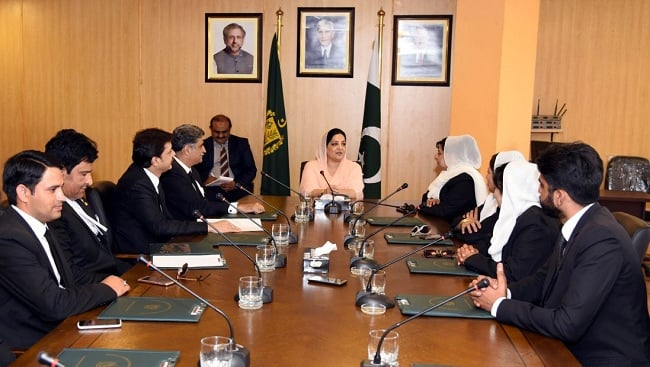 Lawyers delegation calls on Anusha Rehman
