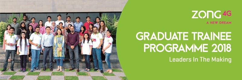 Zong 4G opens applications for Graduate Trainee Programme 2018